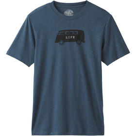 Prana Will Travel Journeyman Kurzarm T-Shirt Herren denim heather